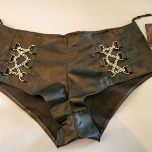 Allure Leather Dominatrix Booty Shorts